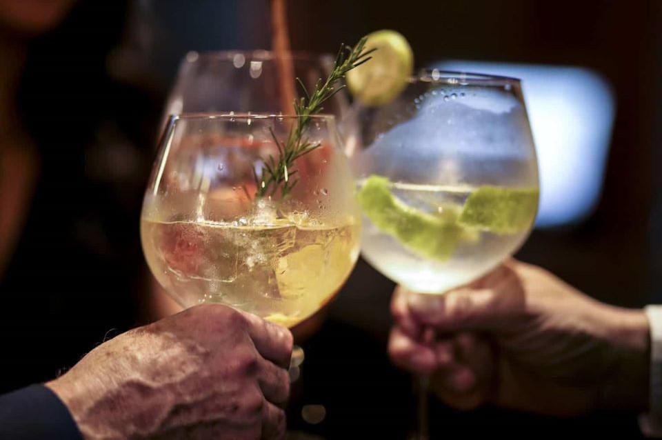 Cocktails at Casa Gangotena's Bar.