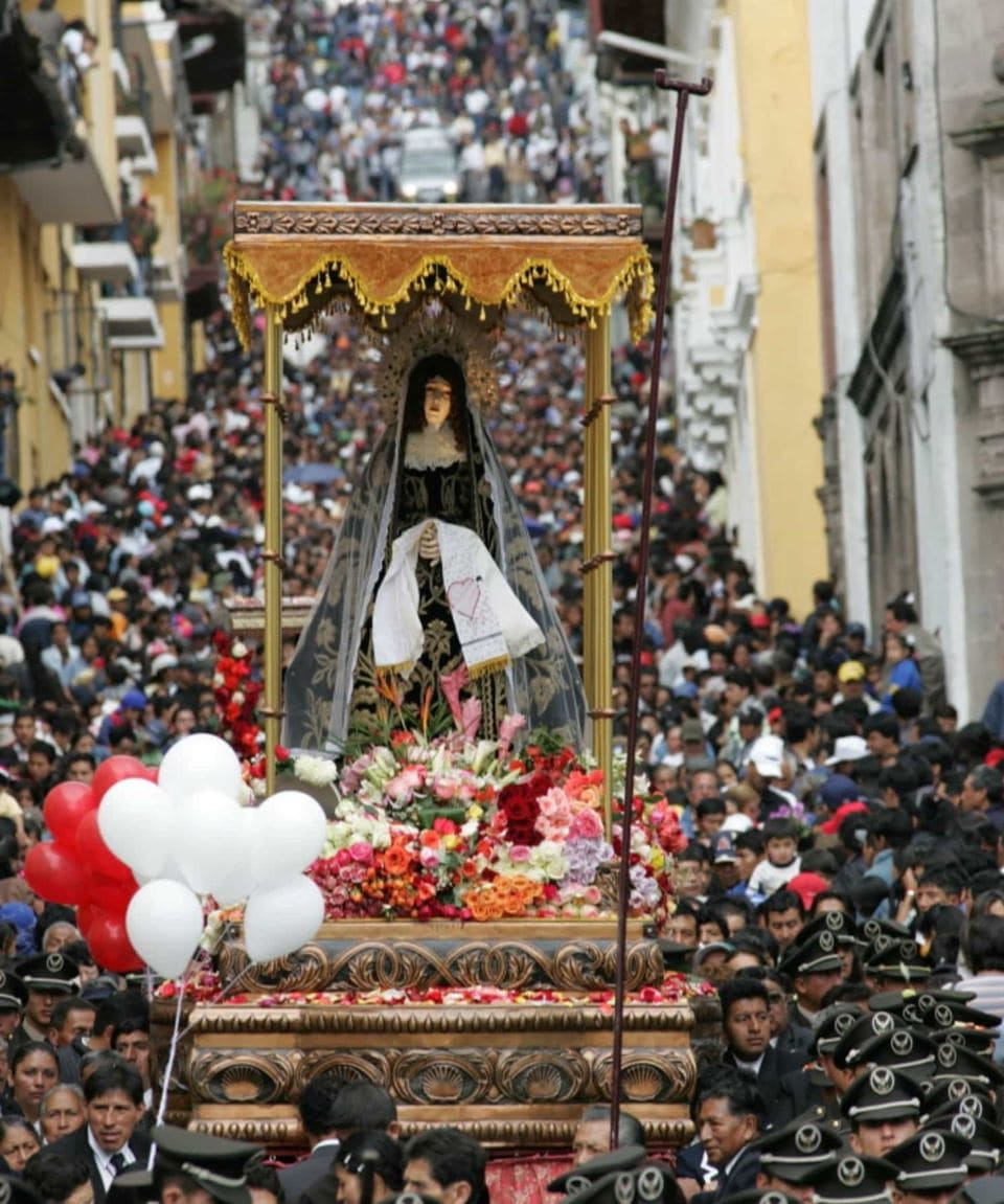 Holy Week procession in Quito.