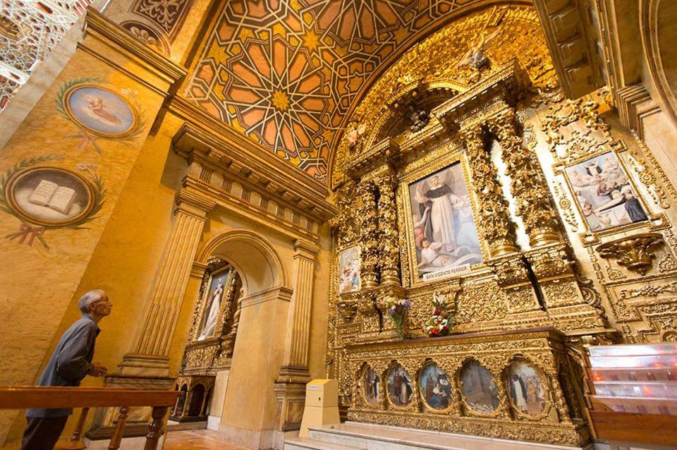 La Iglesia de Santo Domingo en el Centro Histórico de Quito.
