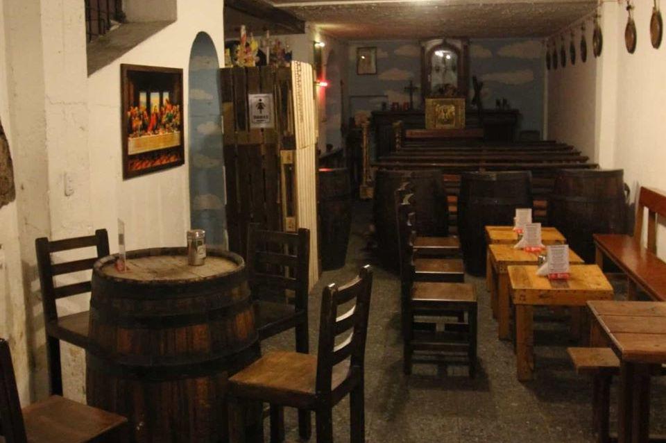 Un restaurante en el Centro Histórico de Quito.