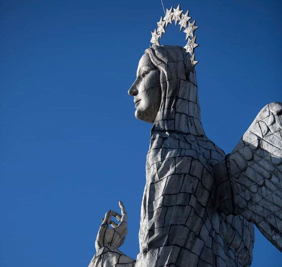 The Virgin of the Panecillo in Quito's old town.