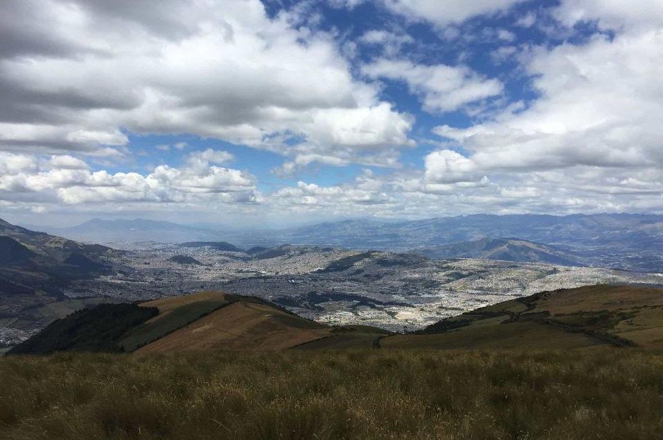 La vista desde la Hacienda Santa Cecilia en Ecuador.