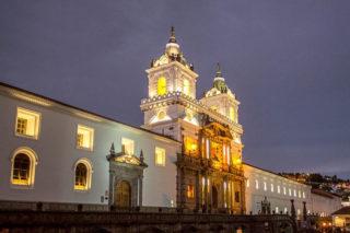 San Francisco church at Old Town Quito