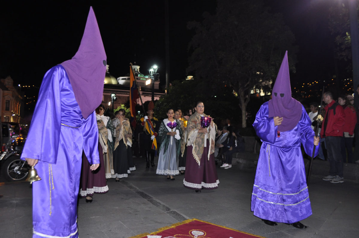 Cucuruchos at the Silence Procession