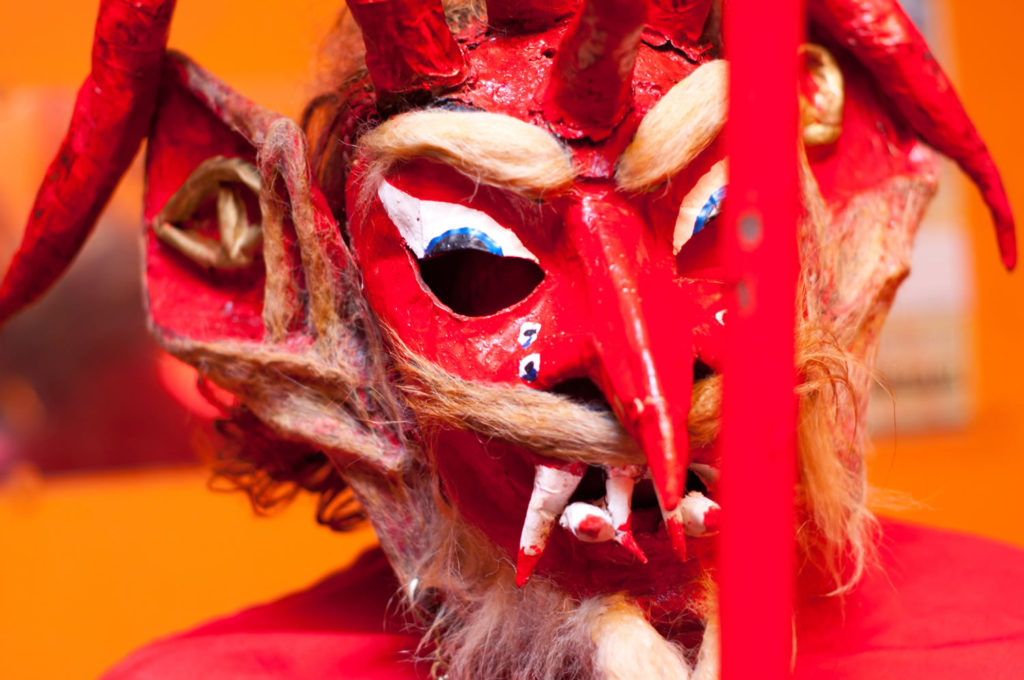 Traditional devil mask