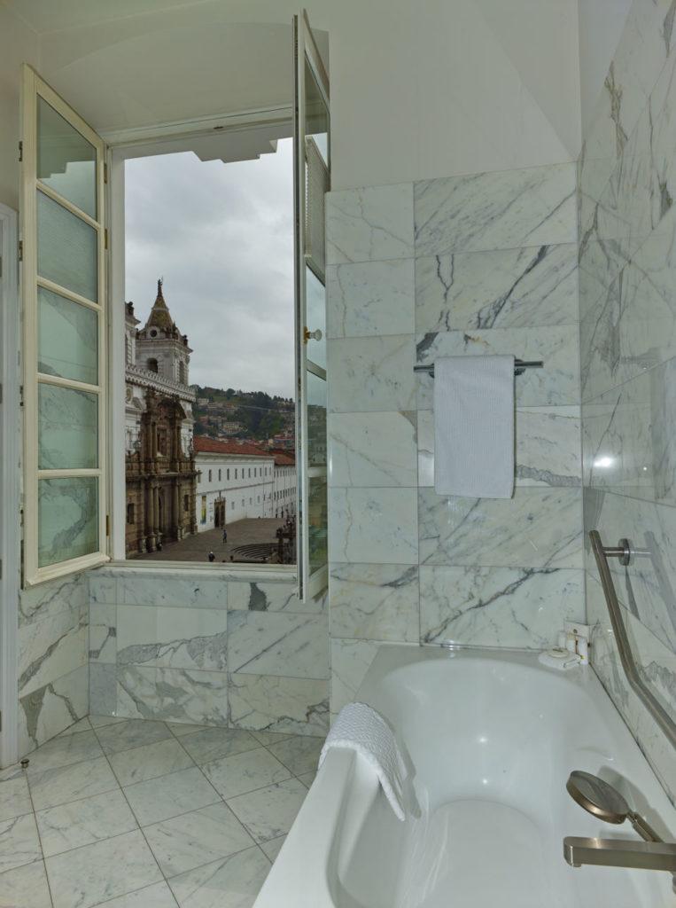 Vista desde el baño de Casa Gangotena