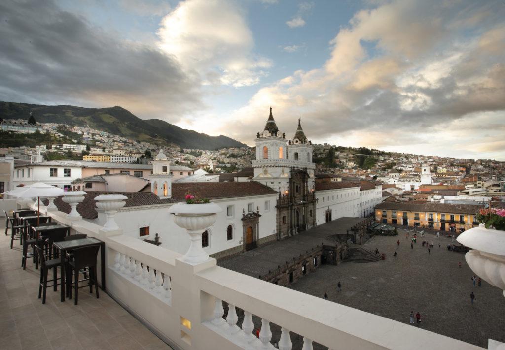 Casa Gangotena's rooftop terrace view
