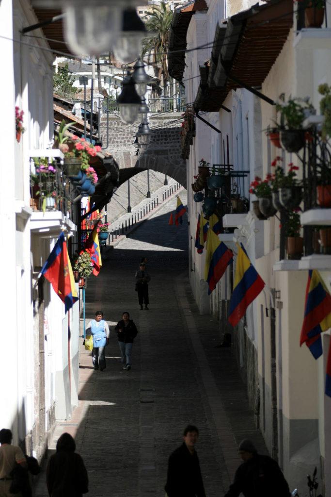 La Ronda Street at Quito, Ecuador