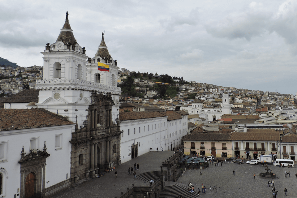 View of San Francisco de Quito church
