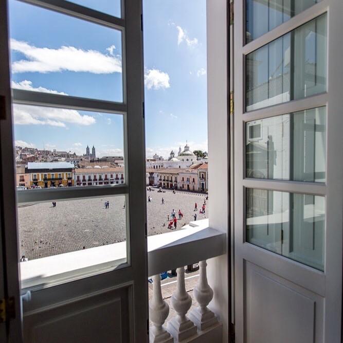 View from Casa Gangotena's Plaza Room