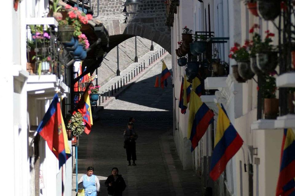 La calle de La Ronda en el Centro Histórico de Quito.