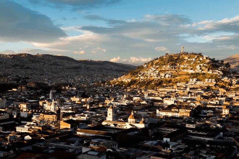 Vista del centro histórico de Quito