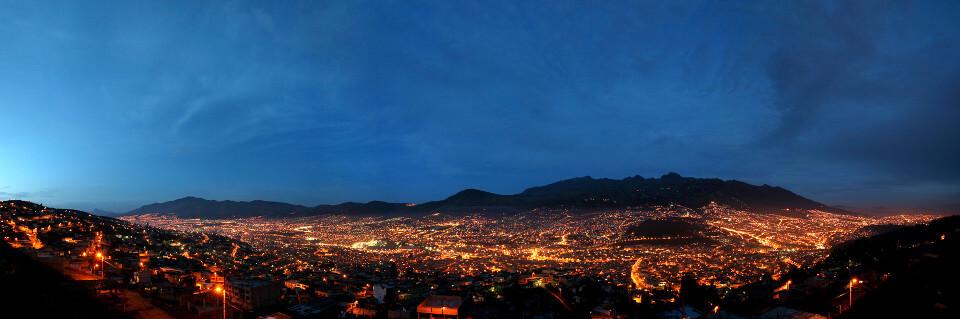 Panoramic view of Quito, Ecuador