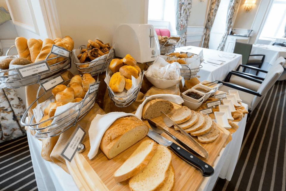 Desayuno buffet en Casa Gangotena