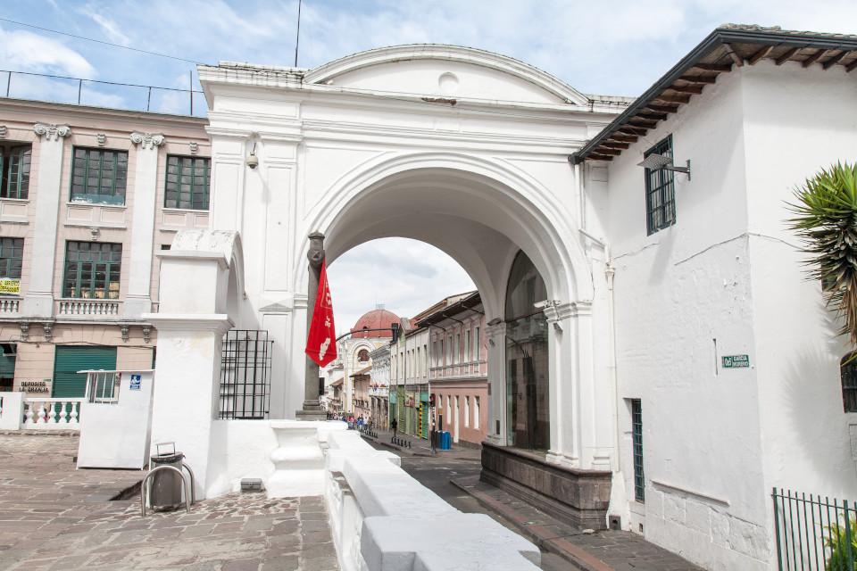 El arco de la Reina en Quito