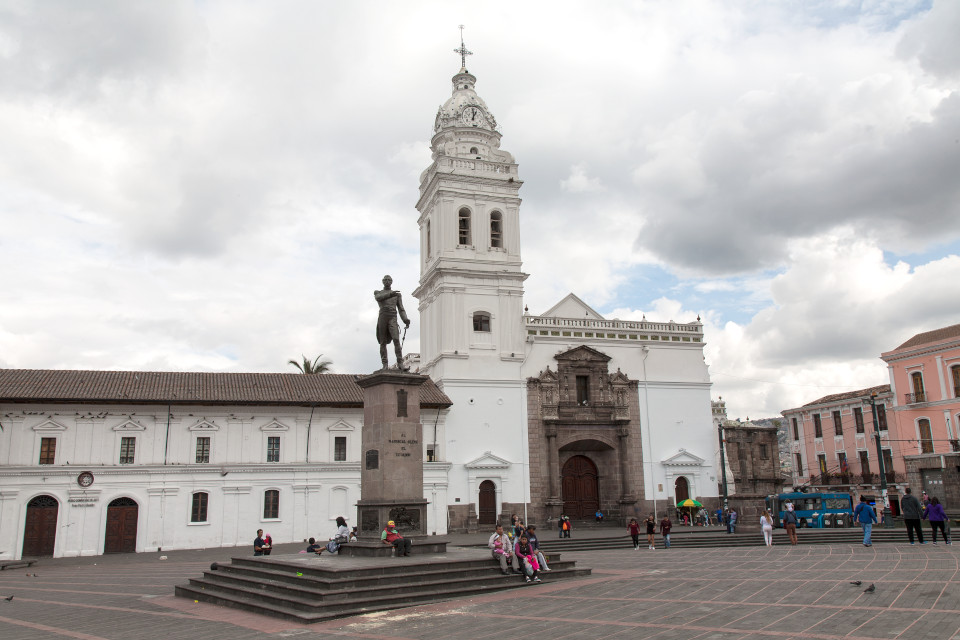 Santo Domingo Church and Plaza in Quito