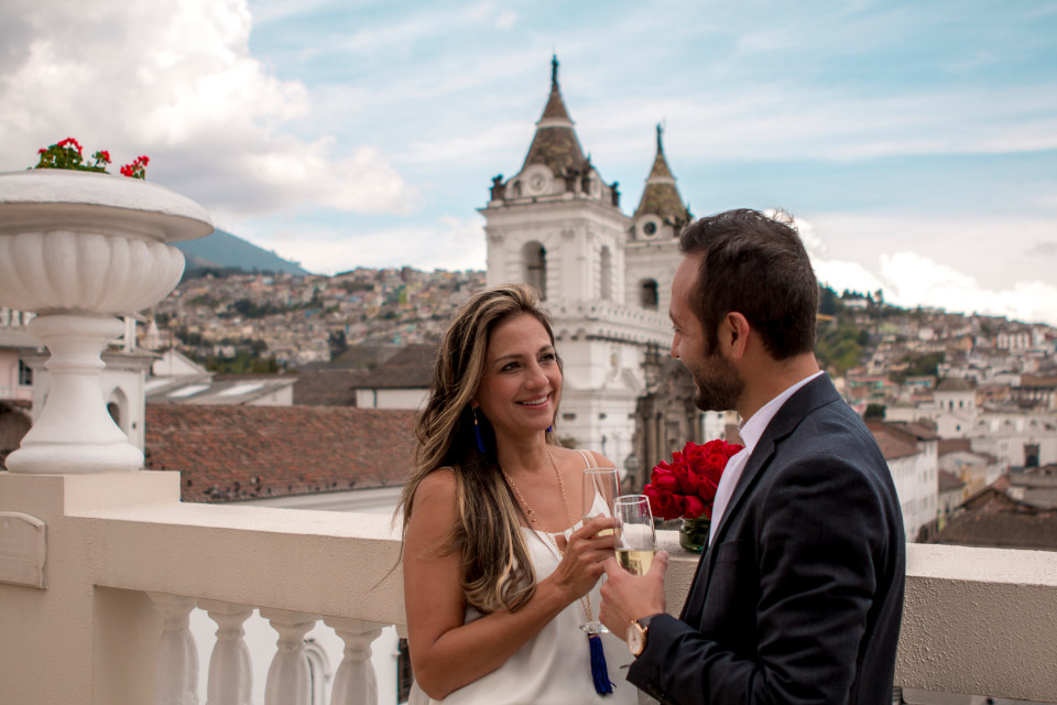 Romantic Hotel with rooftop terrace in Quito, Ecuador