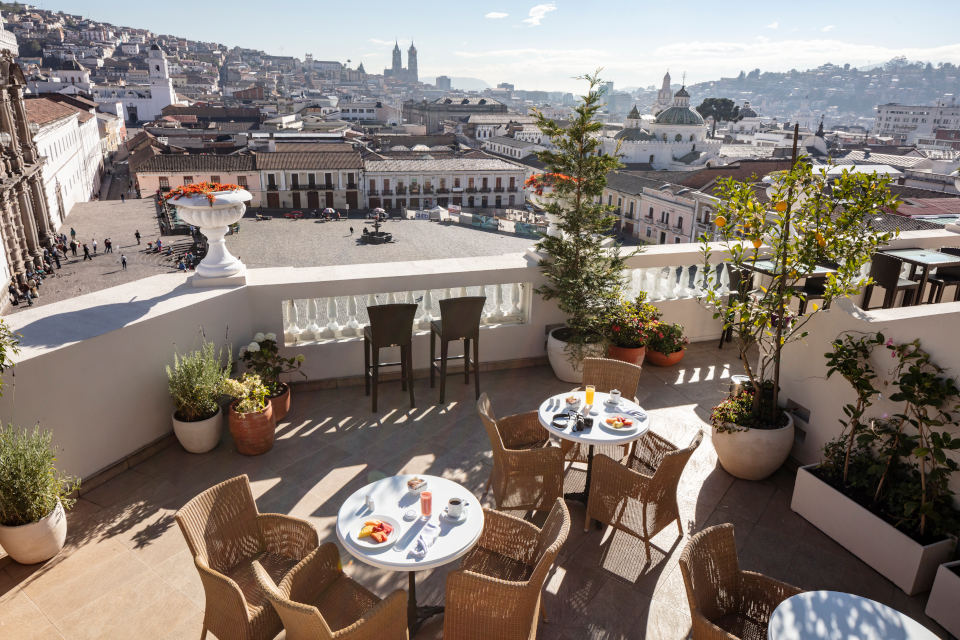 Rooftop Bar and Terrace in Quito, Ecuador