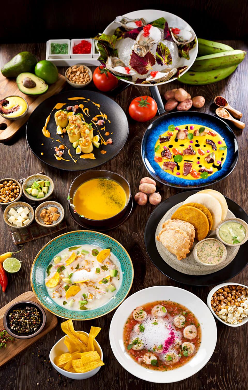 Casa Gangotena's staple dishes