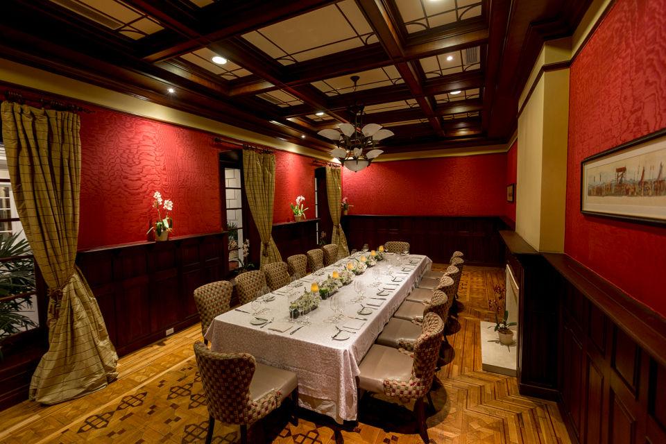 Casa Gangotena's Crimson Room