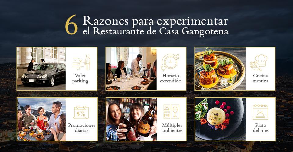 Razones para elegir el restaurante de Casa Gangotena