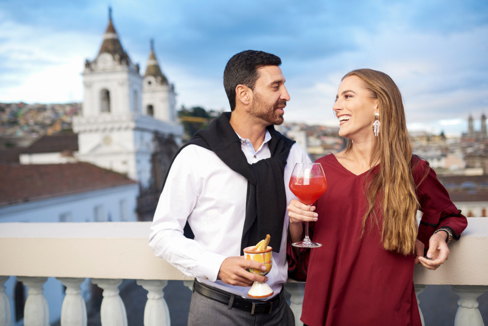 Romantic Celebrations on Casa Gangotena's Rooftop Terrace