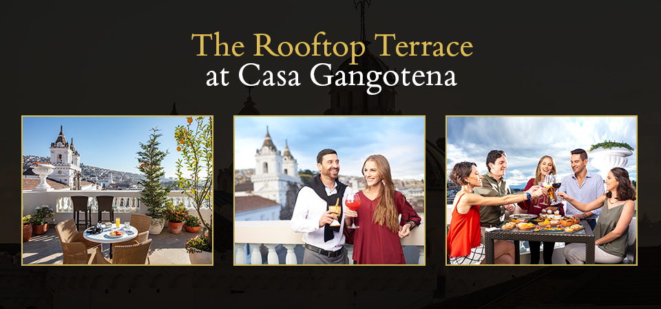 The Rooftop Terrace at Casa Gangotena
