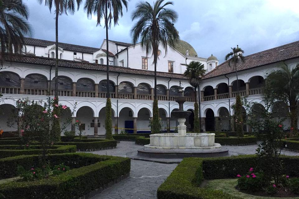 Interior Courtyard at San Francisco Church and Convent