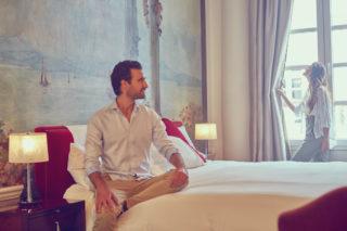 Casa Gangotena's guest room