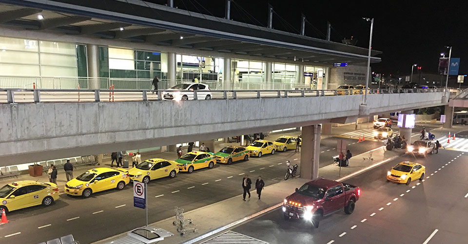 quito arrival terminal exterior