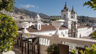 Casa Gangotena's terrace