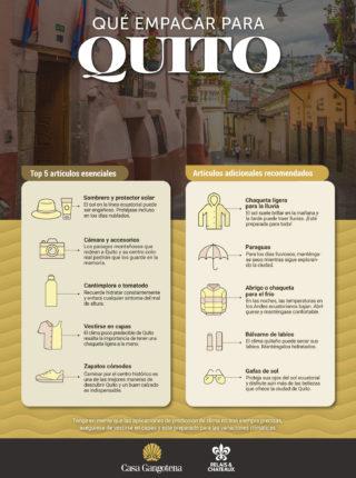 Qué empacar para viajar a Quito
