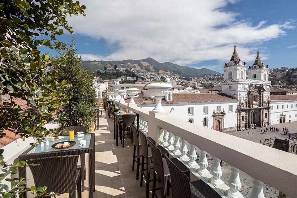 Casa Gangotena rooftop terrace view