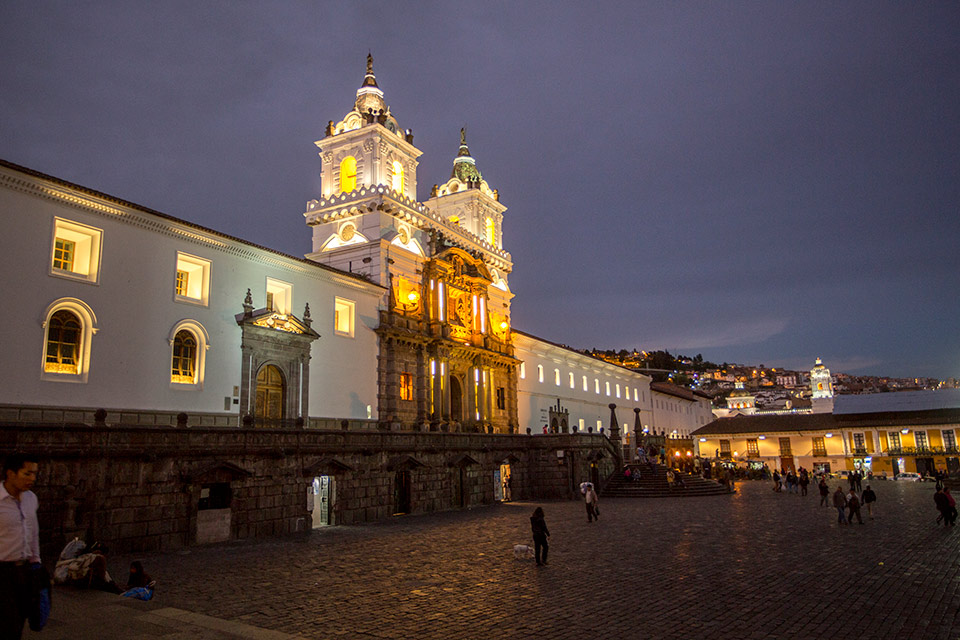 San Francisco Plaza in Quito
