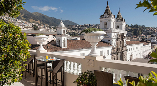 Casa Gangotena Rooftop Terrace
